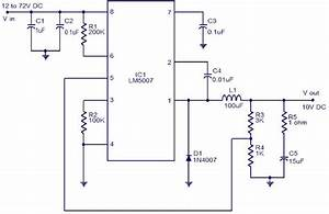 10v Switching Regulator Using Lm5007