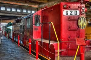 Red Diesel Train Locomotive
