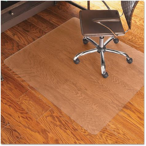 chair mat office floor robbins clear rectangle
