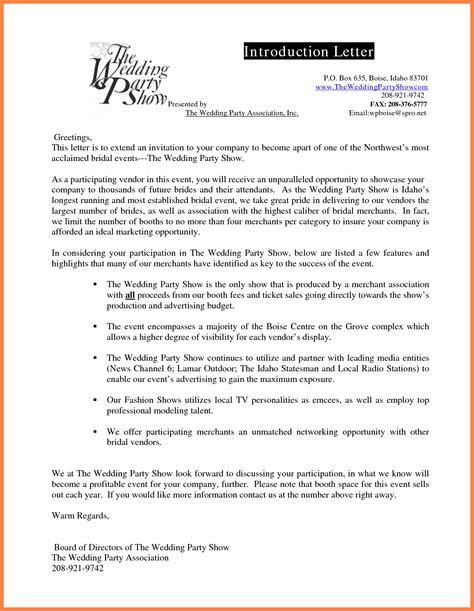 company introduction letter sample company letterhead