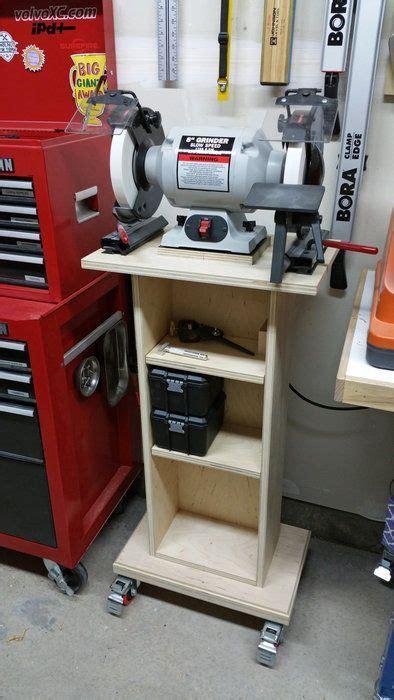 grinder stand diy garage storage garage work bench