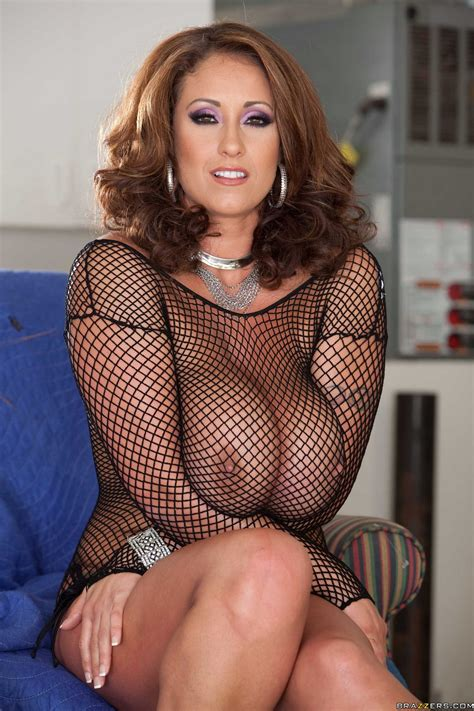 Eva Notty in sexy black fishnet shows off her hot body and big boobs - My Pornstar Book