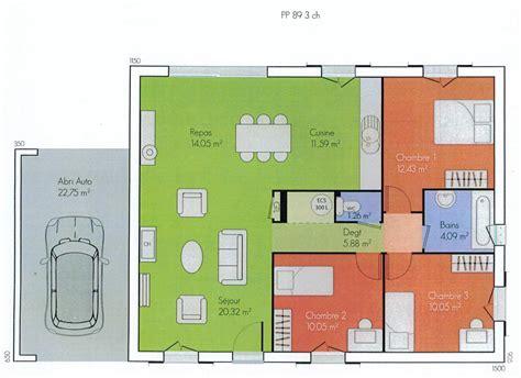 maison 3 chambres plans de maisons modernes de 3 chambres maison moderne