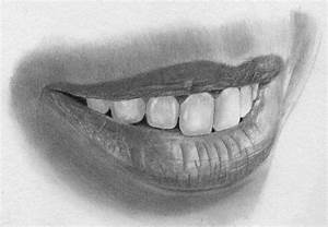 Drawn smile closed mouth smile