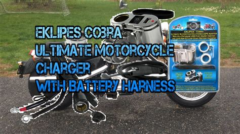 Eklipes Chrome Cobra Motorcycle Usb And 12 Volt Socket
