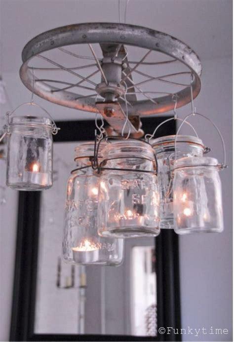 wagon wheel light with mason jars clinker truffles recipe planters outdoors and