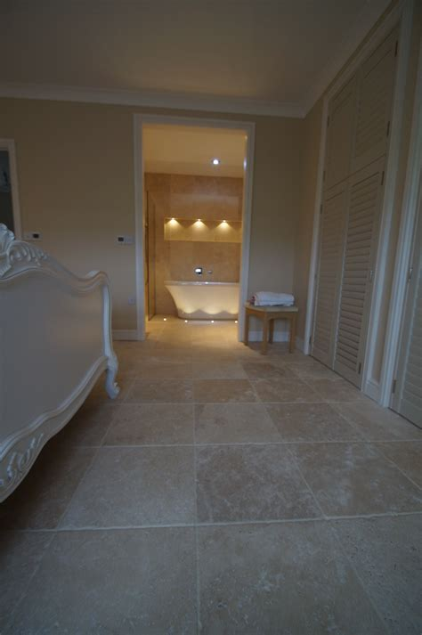 From Travertine Beds, To Bedroom Floor  Inspirational Use