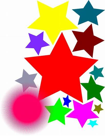 Stars Clipart نجوم ملونه صوره Openclipart I2clipart
