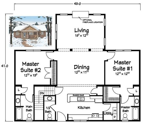 house plans with 3 master suites two master suites ranch plans