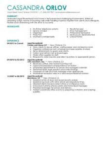real estate receptionist duties for resume receptionist resume exle sle resumes livecareer