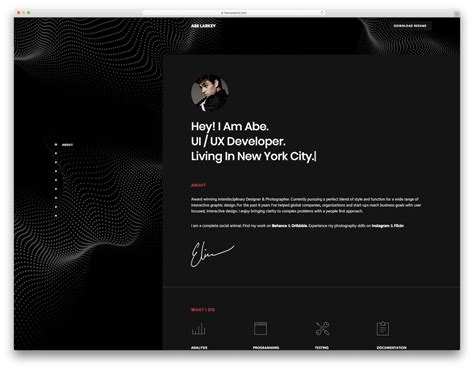 Resume Site Template by 27 Top Resume Website Templates For Cvs 2019 Colorlib
