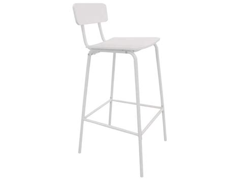 tabouret de bar metallique tabouret de bar coloris blanc vente de chaise de