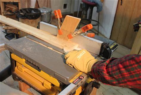 hand beveling wood strips  wood kayak canoe tablesaw