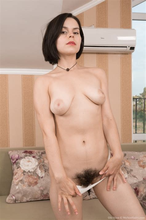 Ole Nina Is Showing Off Her Hairy Pits On Her Patio In Her Brown Dress She Has White Panties