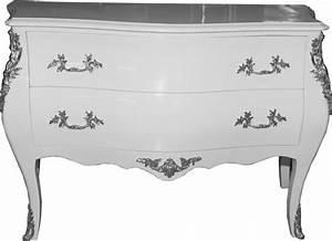Commode 120 Cm : commode baroque main en blanc faite par casa padrino ~ Teatrodelosmanantiales.com Idées de Décoration