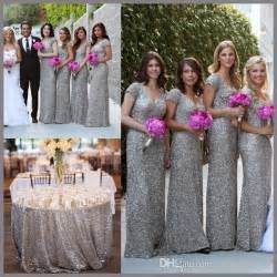 grey sequin bridesmaid dresses cap sleeve beaded sequins grey bridesmaid dresses v neck cheap bridesmaid gowns silver