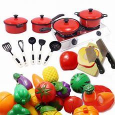 Children Kids Play Toys Kitchen Utensils Pots Pans Cooking