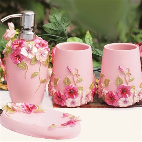 pink bathroom accessories ideas  pinterest