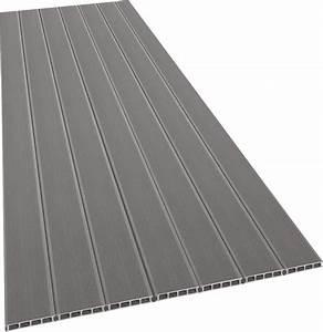 Terrasse Lame Composite : lame de terrasse en composite gris bricoman ~ Edinachiropracticcenter.com Idées de Décoration