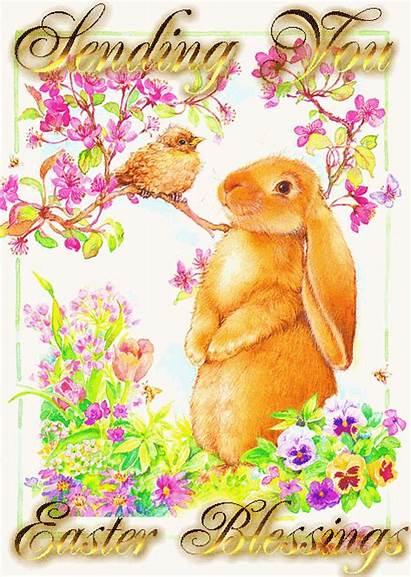 Easter Blessings Happy Sending Glitter Graphics Blessing