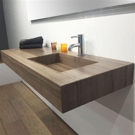plan vasque salle de bain suspendu 121x46 cm excentr 233 stonewood