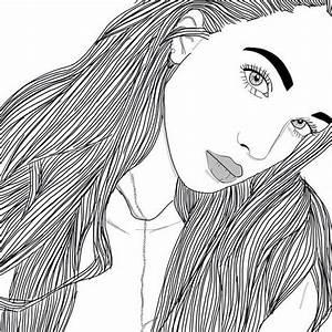 Fille Noir Et Blanc : dessins de fille tumblr noir noir et blanc dessins ~ Melissatoandfro.com Idées de Décoration