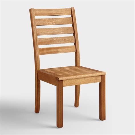 World Market Chairs Outdoor by Wood Praiano Outdoor Dining Side Chair World Market