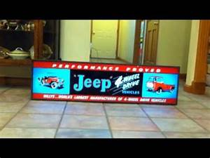 JEEP WILLYS ANTIQUE NEON SIGN FOR SALE