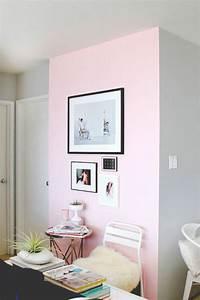 Nos astuces en photos pour peindre une piece en deux for Peinture rose et gris