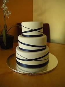 Wedding Cake With Ribbon Main Made Custom Cakes