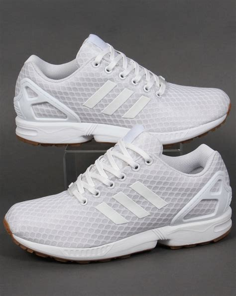Adidas ZX Flux Trainers White/White/Gum,originals,shoes ...
