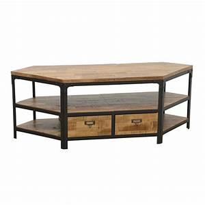 Meuble De Tele D Angle : meuble tv d 39 angle 2 tiroirs wolof par nomadde meubles design ~ Nature-et-papiers.com Idées de Décoration
