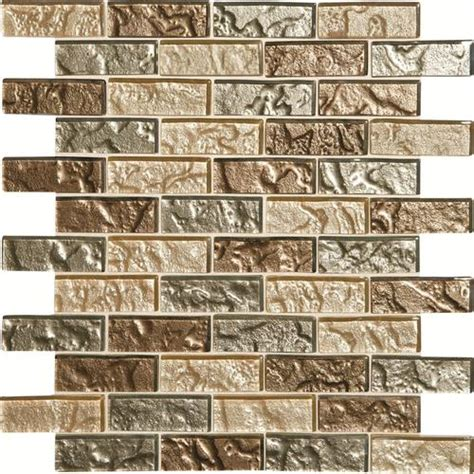 glass backsplash tile menards phase mosaics and glass wall 3 quot x 1 quot tile brickjoint
