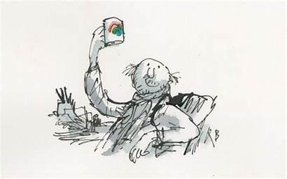 Blake Quentin Sir Roald Dahl Illustrator Portrait