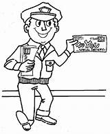 Coloring Mailman Pages Mail Carrier Postman Preschool Community Office Helpers Google Drawing Printable Books Letter Template Getdrawings Colouring Sheets Truck sketch template