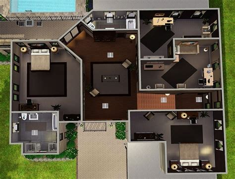 sims 3 floor plans for houses the sims house plans 5000 house plans
