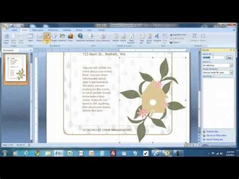 create  flyer  ms word  images flyer