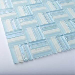 tst crystal glass tiles sky blue strips designed bathroom With blue sky bathroom tile floor decoration