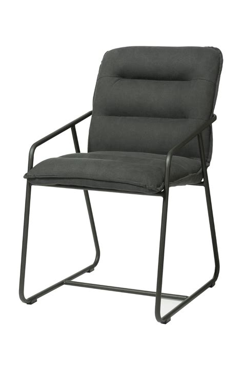 Eclectic Lh Imports Pullman Side Chair Dark Charcoal