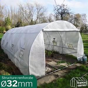 Serre Tunnel De Jardin : serre de jardin tunnel 18m avec a rations lat rales ~ Melissatoandfro.com Idées de Décoration