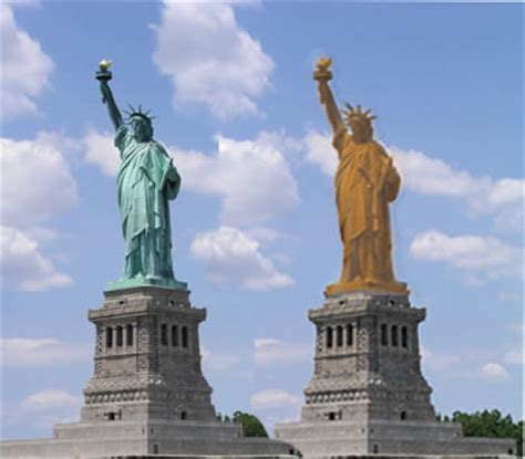 original statue of liberty color til congress appropriated money in 1906 to paint the