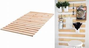 Ikea Sommier À Lattes : 8 fa ons g niales de r utiliser les lattes de bois suldan lade d 39 ikea ~ Melissatoandfro.com Idées de Décoration