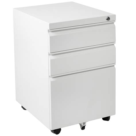 Office Drawers On Wheels by Vivo Vivo White Steel 3 Drawer Mobile Office File Cabinet