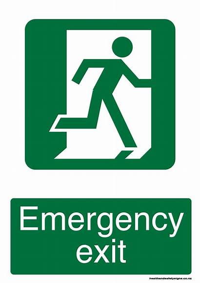 Exit Emergency Evacuation Fire Sign Signs Safety