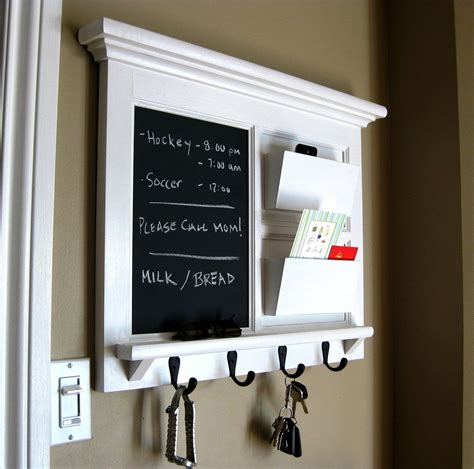 Kitchen Organizer Chalkboard by Home Decor Framed Furniture Mail Organizer Storage