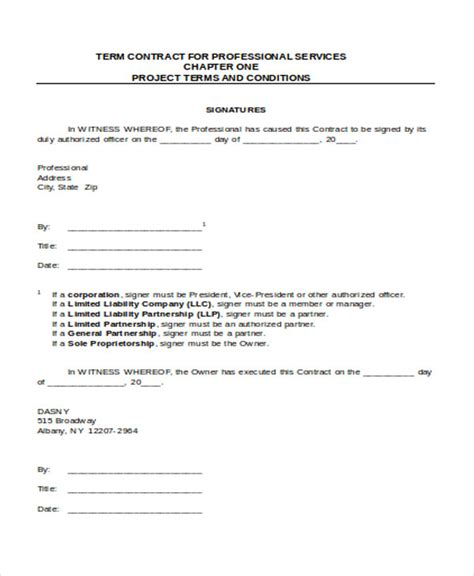 service contract sample templates   ms