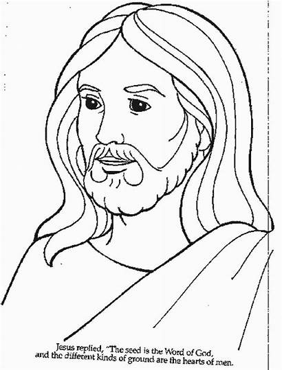 Jesus Coloring Pages Printable Bible