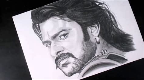 Many artists and designers prefer to loosely sketch ideas before refining them later on. Realistic drawing Bahubali (Sketch of Prabhas)   Pencil Sketch - YouTube