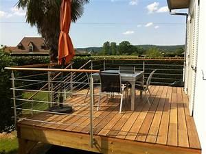 terrasse suspendue ma terrasse With terrasse en bois suspendue prix