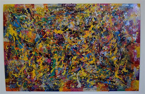 transfer 7 abstract modern painting on aluminum by artist bruce gray